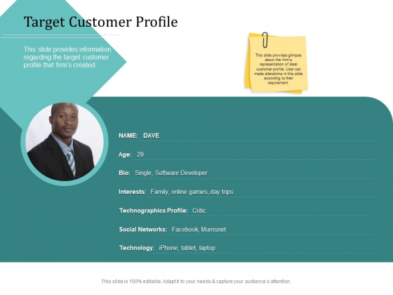 Improving Client Experience Target Customer Profile Mockup PDF
