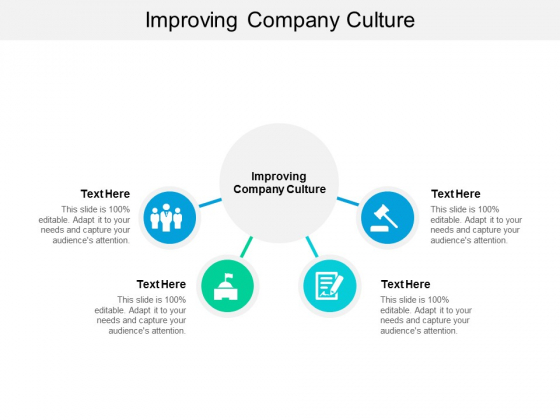 Improving Company Culture Ppt PowerPoint Presentation Gallery Graphics Template Cpb