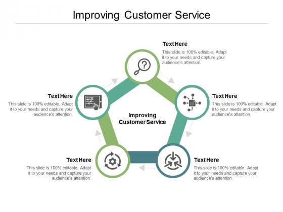 Improving Customer Service Ppt PowerPoint Presentation Diagram Templates Cpb