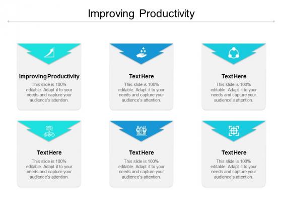 Improving Productivity Ppt PowerPoint Presentation Portfolio Guidelines Cpb
