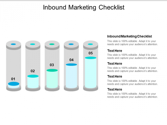 Inbound Marketing Checklist Ppt PowerPoint Presentation Pictures Background Designs Cpb