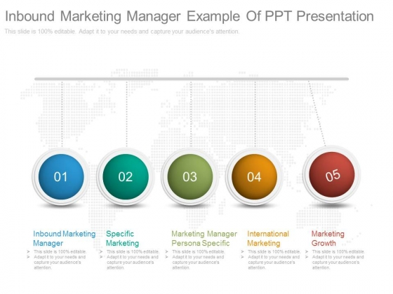Inbound Marketing Manager Example Of Ppt Presentation