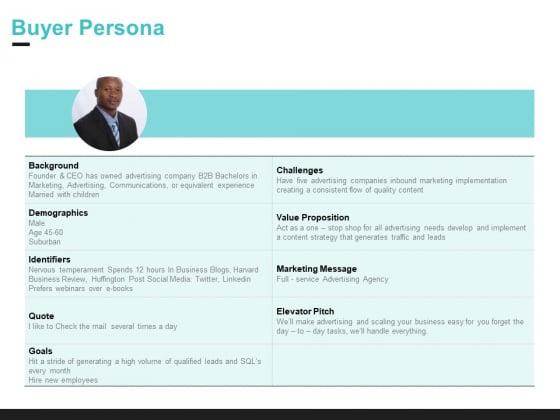 Inbound Marketing Proposal Buyer Persona Ppt Icon Vector PDF