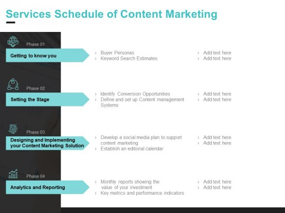 Inbound Marketing Proposal Services Schedule Of Content Marketing Graphics PDF