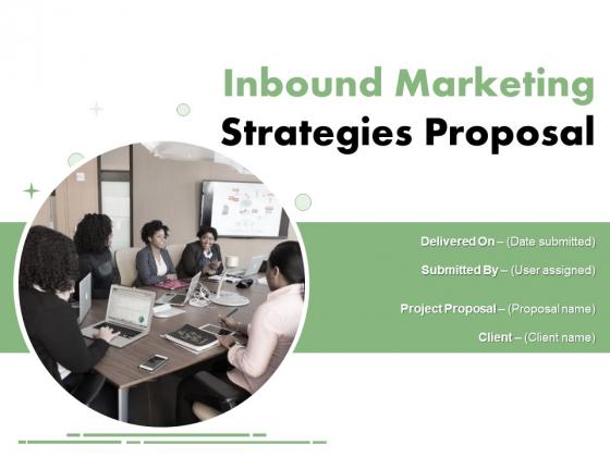 Inbound Marketing Strategies Proposal Ppt PowerPoint Presentation Complete Deck With Slides