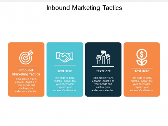 Inbound Marketing Tactics Ppt PowerPoint Presentation Layouts Infographic Template Cpb
