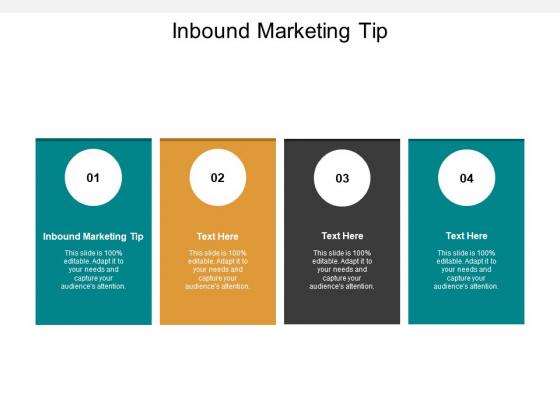Inbound Marketing Tip Ppt PowerPoint Presentation Gallery Gridlines Cpb