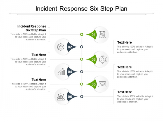 Incident Response Six Step Plan Ppt PowerPoint Presentation Outline Slides Cpb