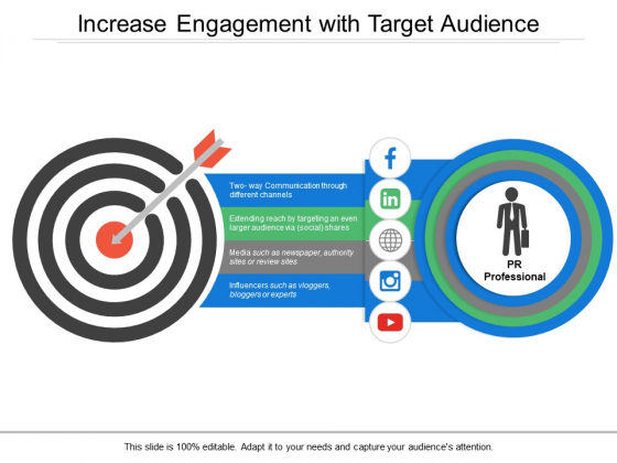 Increase Engagement With Target Audience Ppt PowerPoint Presentation Infographic Template Example 2015