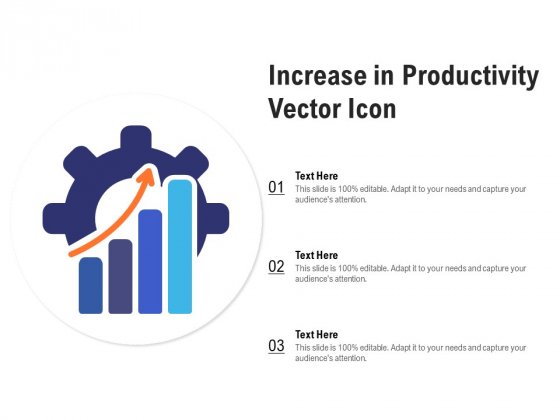 Increase In Productivity Vector Icon Ppt PowerPoint Presentation Infographics Format Ideas