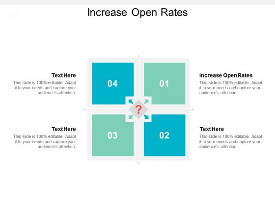 increase open rates ppt powerpoint presentation summary show cpb