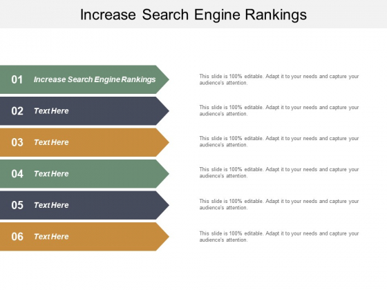 Increase Search Engine Rankings Ppt PowerPoint Presentation Portfolio Topics Cpb