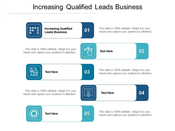 Increasing Qualified Leads Business Ppt PowerPoint Presentation Gallery Slide Portrait Cpb Pdf