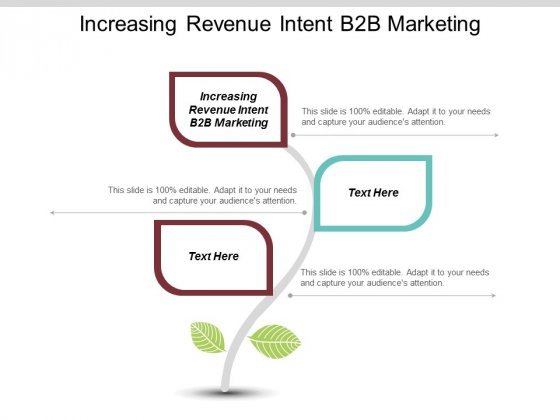 Increasing Revenue Intent B2b Marketing Ppt Powerpoint Presentation File Graphics Pictures Cpb