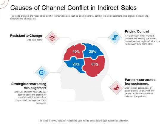 Indirect Channel Marketing Initiatives Causes Of Channel Conflict In Indirect Sales Background PDF