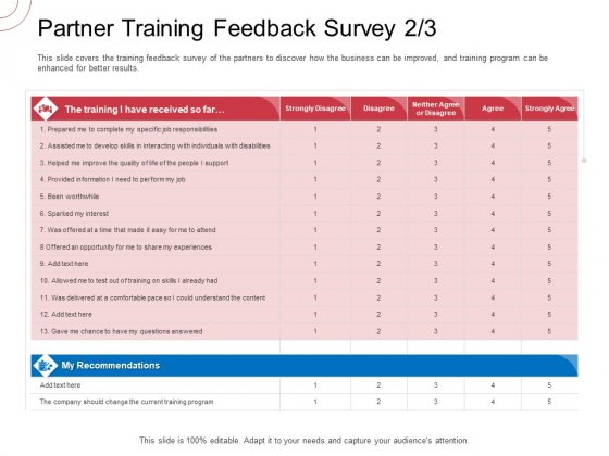 Indirect Channel Marketing Initiatives Partner Training Feedback Survey Develop Ideas PDF