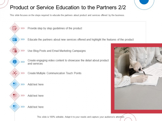 Indirect Channel Marketing Initiatives Product Or Service Education To The Partners Step Information PDF