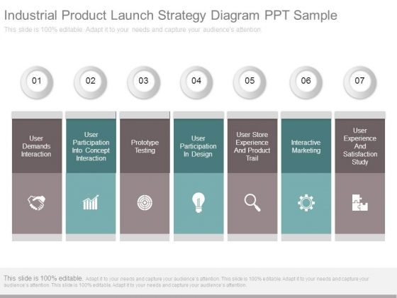 Industrial Product Launch Strategy Diagram Ppt Sample