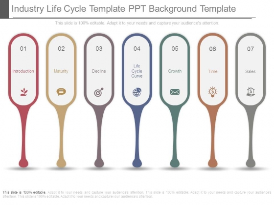 Industry Life Cycle Template Ppt Background Template