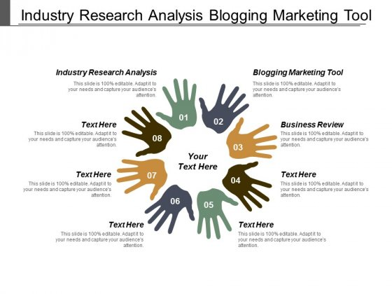 Industry Research Analysis Blogging Marketing Tool Business Review Ppt PowerPoint Presentation Inspiration Slides