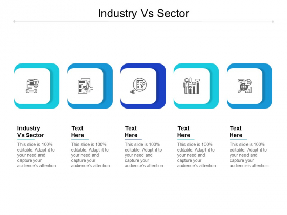 Industry Vs Sector Ppt PowerPoint Presentation Ideas Model Cpb Pdf