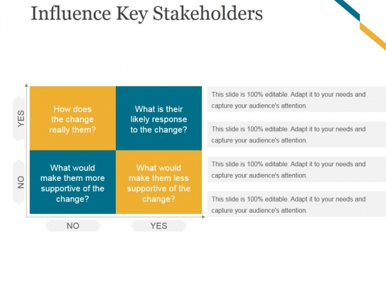Influence Key Stakeholders Ppt PowerPoint Presentation Ideas Outline