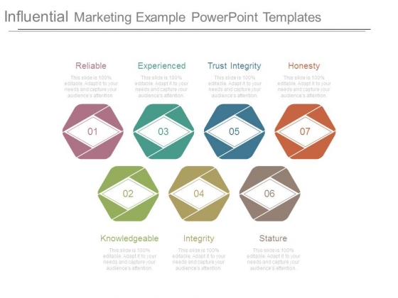 Influential Marketing Example Powerpoint Templates