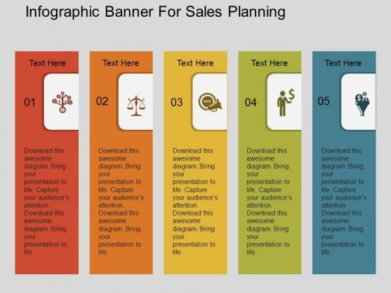 Infographic Banner For Sales Planning Powerpoint Template