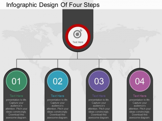 Infographic Design Of Four Steps Powerpoint Template