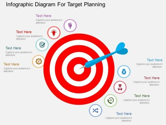 Infographic Diagram For Target Planning Powerpoint Templates