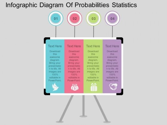 Infographic Diagram Of Probabilities Statistics Powerpoint Template