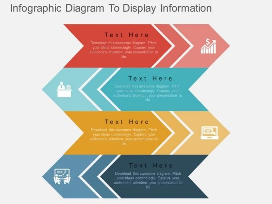 Infographic Diagram To Display Information Powerpoint Template