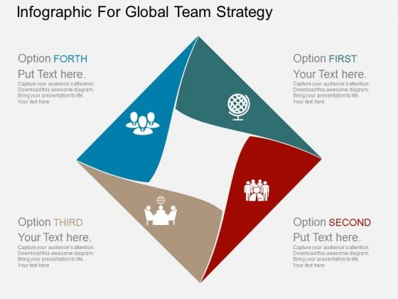 Infographic For Global Team Strategy Powerpoint Template