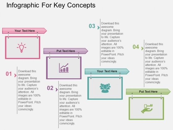 Infographic For Key Concepts Powerpoint Templates