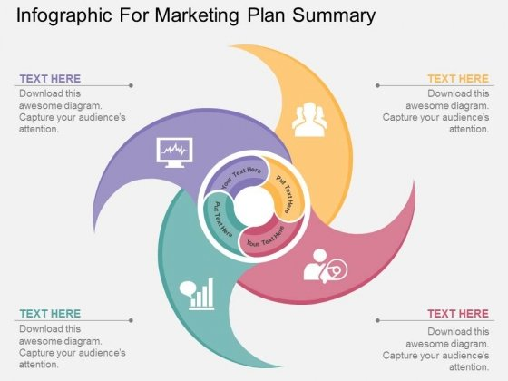 Infographic For Marketing Plan Summary Powerpoint Template