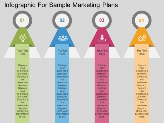 Infographic For Sample Marketing Plans Powerpoint Template