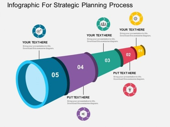 Infographic For Strategic Planning Process Powerpoint Template