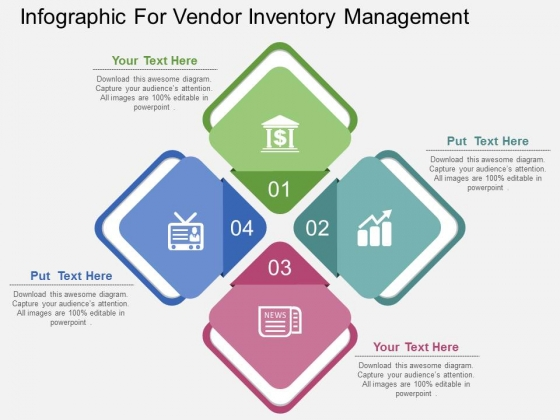 Infographic For Vendor Inventory Management Powerpoint Template