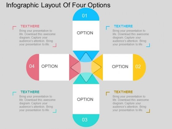 Infographic Layout Of Four Options Powerpoint Templates