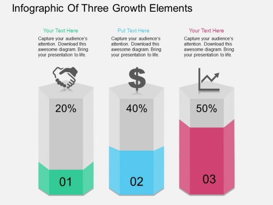 Infographic Of Three Growth Elements Powerpoint Template