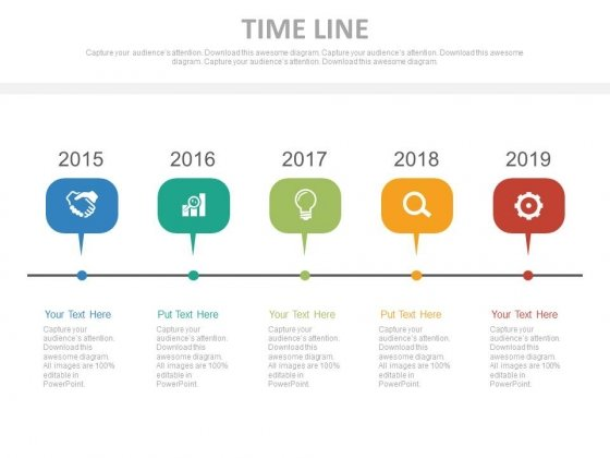 Infographic Timeline Chart For Business Process Powerpoint Slides
