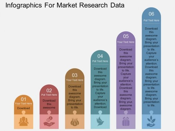 Infographics For Market Research Data Powerpoint Template - Market research powerpoint template
