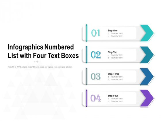 Infographics Numbered List With Four Text Boxes Ppt PowerPoint Presentation Infographics Deck