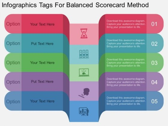 Infographics Tags For Balanced Scorecard Method Powerpoint Template