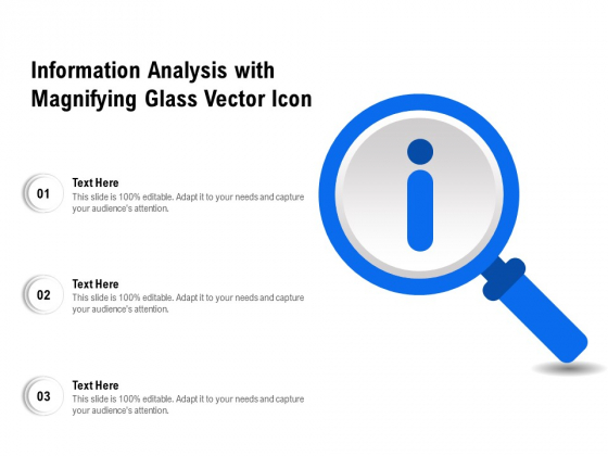 Information Analysis With Magnifying Glass Vector Icon Ppt PowerPoint Presentation File Inspiration PDF