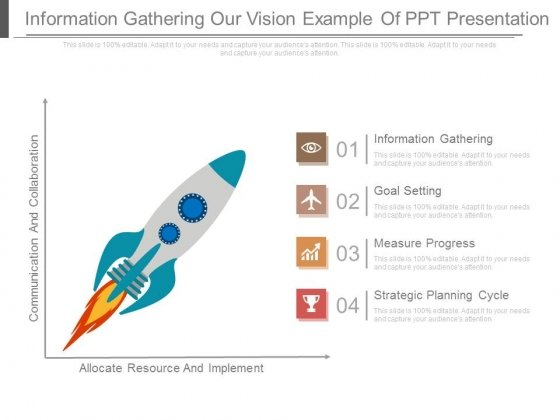 Information Gathering Our Vision Example Of Ppt Presentation