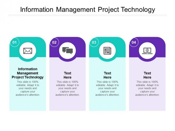 Information Management Project Technology Ppt PowerPoint Presentation Pictures Clipart Cpb