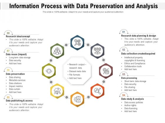 Information Process With Data Preservation And Analysis Ppt PowerPoint Presentation Styles Graphics Tutorials PDF