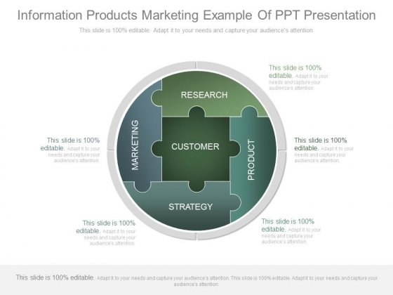 Information Products Marketing Example Of Ppt Presentation