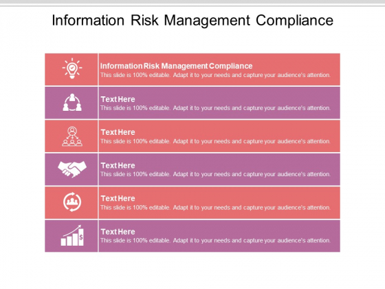 Information Risk Management Compliance Ppt PowerPoint Presentation Professional Show Cpb Pdf